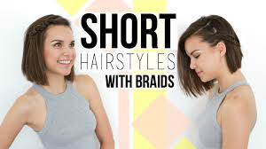 Quick Hairstyles For Braids 2 Quick Easy Braids Hairstyles For Short Hair Bobs Youtube