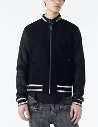 Designer Mens Letterman Jacket Armani Exchange Understated Varsity Jacket Jacket For Men