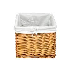 Wicker Basket Cabinet Foxhunter Wooden Storage Bench Seat With 3 Wicker Basket Drawer