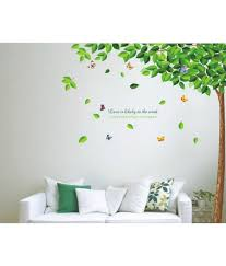 Small Picture StickersKart Flowers Trees PVC Multicolour Wall Stickers Buy