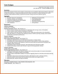 Resume Teacher Sop Example
