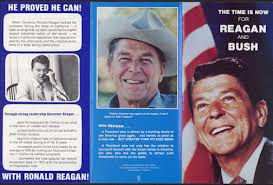 Campaign Brochure Pl299 1980 The Time Is Now Reagan Bush Presidential Campaign Brochure