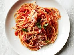 Image result for spaghetti in red sauce