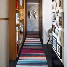 contemporary rug striped tibetan wool rectangular refraction by paul smith