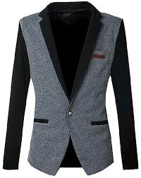 b dressy mens trendy slim fit long sleeve one button blazer jacket