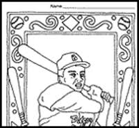Small Picture Jackie robinson coloring page