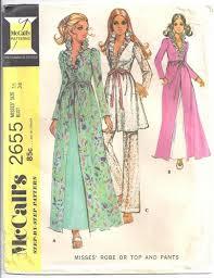 Robe Sewing Pattern Stunning McCalls Sewing Pattern 48 Lingerie Robe Top Pants Peignoir Set