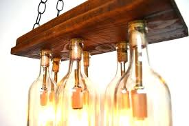 wine bottle chandelier wicker shades beer cork glass frame diy