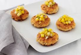 Roasted salmon with vegetable crunchies is a healthy meatless addition to your passover holiday meals. Passover Recipe Special Salmon Cakes With Tropical Fruit Salsa Jnf Org