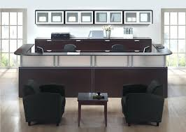 two person reception desk reception desks 2 person receptionist desk