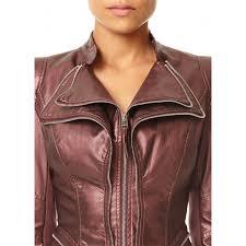 bronze faux leather pulp jacket