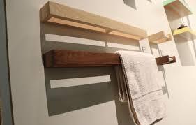 towel rack walnut modern towel bar