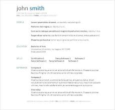 Cv Template Free Download Word 2007 Resume Templates Free Resume Template Word Free Download