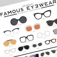 Chart Of Famous Eyewear The Chart Of Famous Eyewear Fancy Com