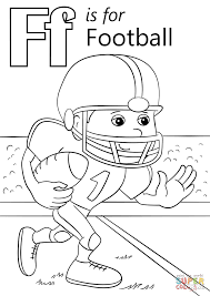 Coloring Pages Football Letter F Is For Football Coloring Page Free Printable Coloring Pages