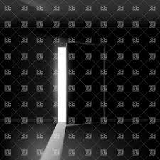 open door clipart black and white. Open Door In Dark Room With Line Of Light Royalty Free Vector Clip Art Clipart Black And White