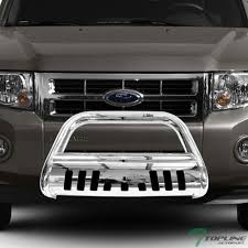 Ford Escape Light Bar Topline Autopart Polished Stainless Steel Bull Bar Brush Push Front Bumper Grill Grille Guard With Skid Plate For 08 11 12 Ford Escape Mazda Tribute