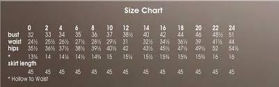 Tony Bowls Size Chart Size Chart Chart Diagram