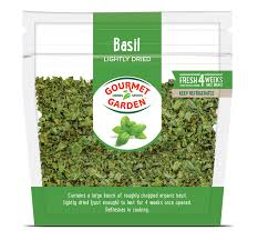 lightly dried basil