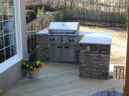 built in grill on wood deck deck and patio ideas design of outdoor kitchen ideas for