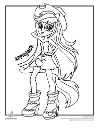 My Little Pony Equestria Girls Rainbow Rocks Coloring Pages Girl