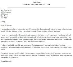 Cover Letter Sample Legal Legal Assistant Cover Letter Sample No