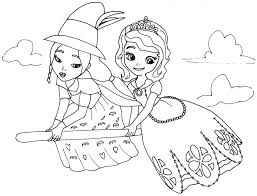 Small Picture Sofia The First Coloring Page For Kids Coloring 16746