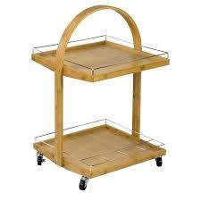 bar cart with wine storage vintage wooden tea zinc top locking serving trolley table zi