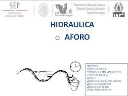 Hidráulica Aforo