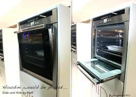 oven with sliding door oven with slide and hide door wild ovens doors com interior design oven with sliding door