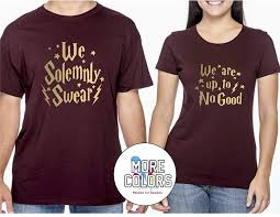 Couple Shirt Design Harry Potter Inspired Couple Matching Shirt T Shirt Funny Tee Gift For Him Her Movie T Shirts