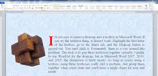 How To Insert A Dropcap In A Textbox In Microsoft Word Chrismcmullen