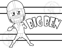 Small Picture Big Ben Steelers Coloring Page Skybachers Locker