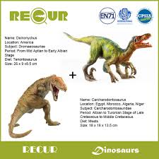 carcharodontosaurus size 2 pcs lot recur toys deinonychus carcharodontosaurus dinosaur hand