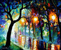 oil painting using only a paltete knife leonid afremov 11