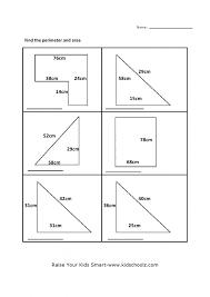 Kindergarten Grade 5 Perimeter Area Worksheet 5 Kidschoolz Maths ...