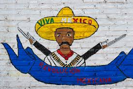 viva nayar  a painted artwork depicting mexican revolution leader emiliano zapata and saying viva
