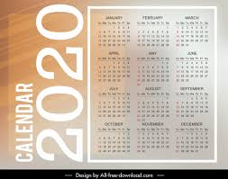 Plain Calendar 2020 2020 Calendar Template Bright Modern Plain Vertical Layout
