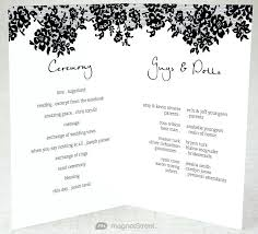 wedding program words free printable ceremony programs template for resume