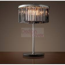 rh rhys prism round crystal table lamp design