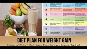 Indian Diet Chart For Weight Gain Pdf Clip Ready