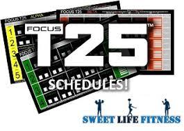 Focus T25 Workout Schedule Free T25 Schedule Pdf Downloads