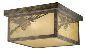 impressive outdoor flush mount ceiling light fixtures rustic light fixtures cabin lighting