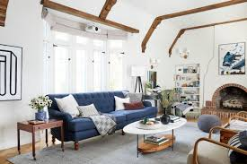 best living room. Tudor Living Room Navy Tuffted Sofa Dash And Albert Rug Modern Traditional Best