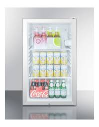 summit scr450lbi7 built in undercounter glass door commerica refrigerator slim fit