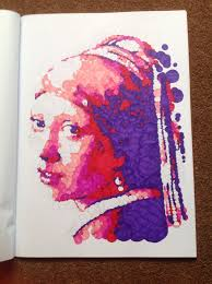 querkles masterpieces a puzzling colour by numbers book by thomas pavitte johannes vermeer s with a pearl earring