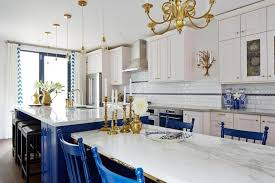 chic blue kitchen chairs blue