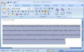 ms word double space text microsoft word