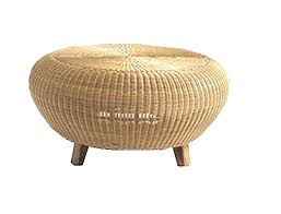 round rattan side table coffee wicker small outdoor with stools sid