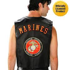 mens u s marines leather vest